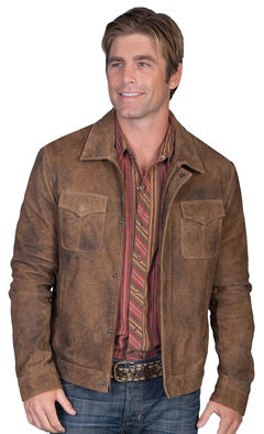 Scully Zip-Up Leather Jacket, Brown, hi-res