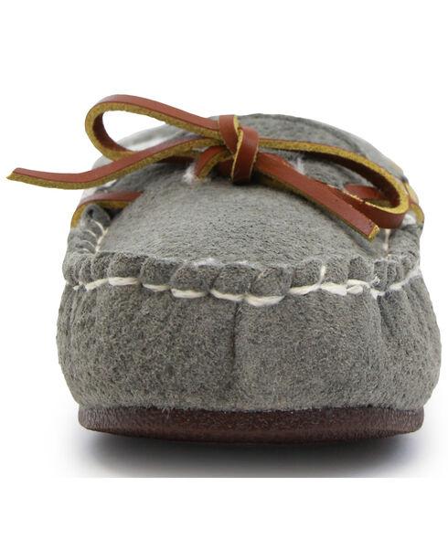 Lamo Footwear Women's Britain Moccasins, Grey, hi-res