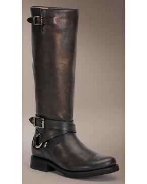 Frye Veronica Criss Cross Tall Riding Boots, Black, hi-res