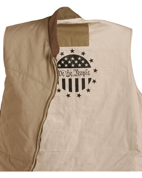 Powder River Outfitters Men's Brushed Twill Conceal And Carry Vest - Big & Tall, Tan, hi-res