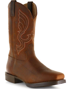Cody James Men's Brown Performance Western Boots - Square Toe, Brown, hi-res