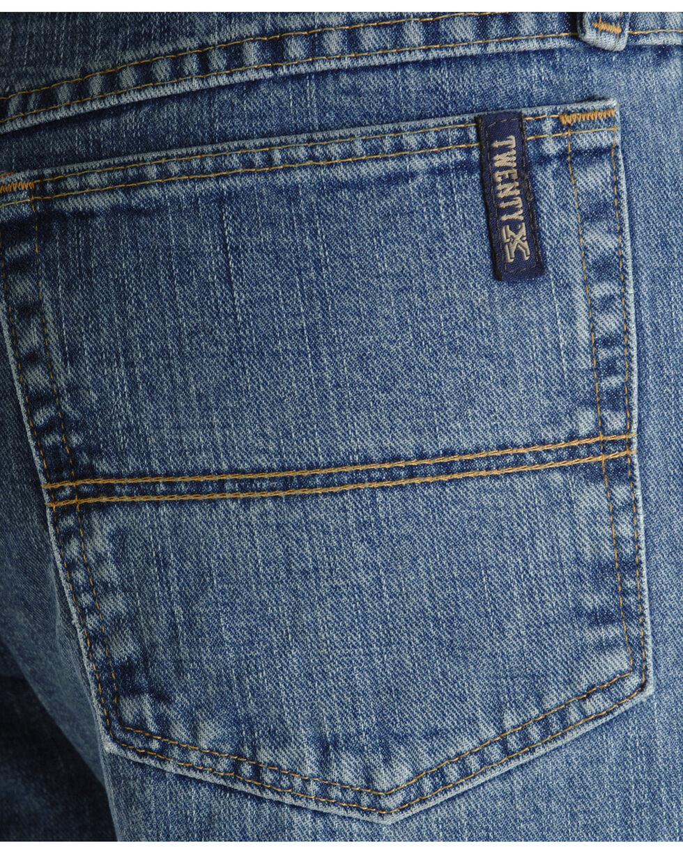 """Wrangler 20X Jeans - No. 23 Relaxed Fit - 38"""" Tall Inseam, Antique Blue, hi-res"""