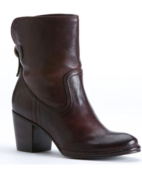 Frye Women's Lucinda Short Boots , Dark Brown, hi-res