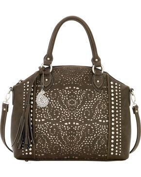 Bandana by American West Mesa Collection Convertible Zip Top Tote, Chocolate, hi-res