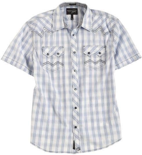 Moonshine Spirit Men's Sonata Creek Plaid Short Sleeve Shirt, White, hi-res