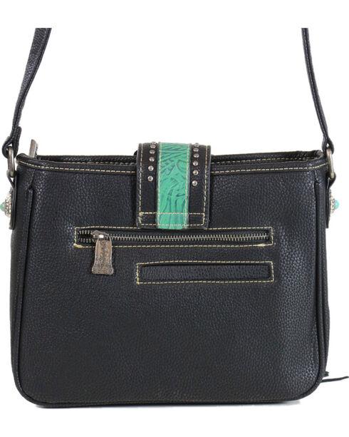 Trinity Ranch Women's Fringe Buckle Crossbody Bag, Multi, hi-res