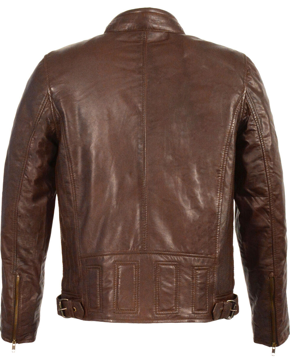 Milwaukee Leather Men's Stand Up Collar Leather Jacket - 3X Big , , hi-res