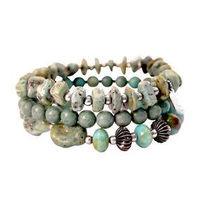 Treska Mykonos 3-Strand Stretch Bracelet , Turquoise, hi-res
