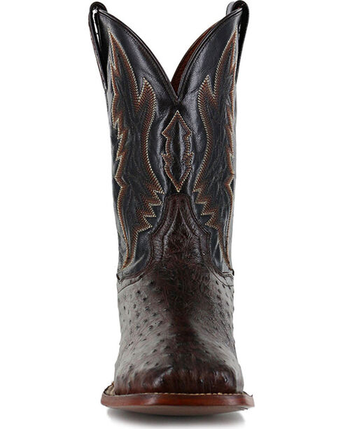Dan Post Men's Ostrich Brown Exotic Boots - Square Toe , Brown, hi-res