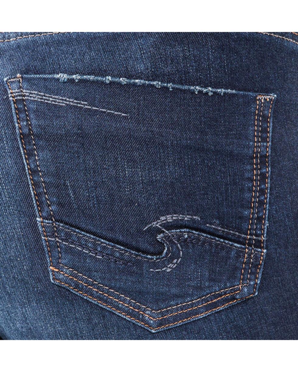 Silver Women's Izzy Dark Wash Boot Cut Jeans, Indigo, hi-res