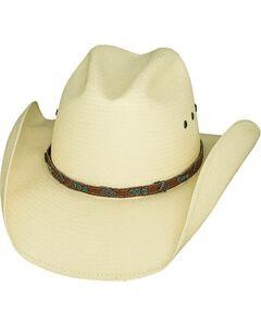 Bullhide Classic Shantung Panama Straw Cowgirl Hat, Natural, hi-res