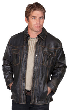 Scully Lamb Leather Jacket, Black, hi-res