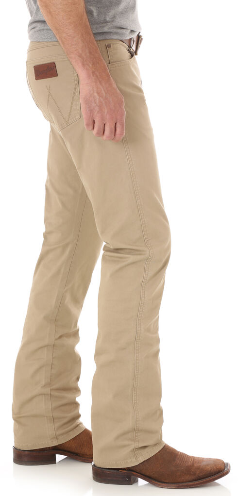 Wrangler Retro Men's Light Brown Slim Stretch Jeans - Straight, Light Brown, hi-res