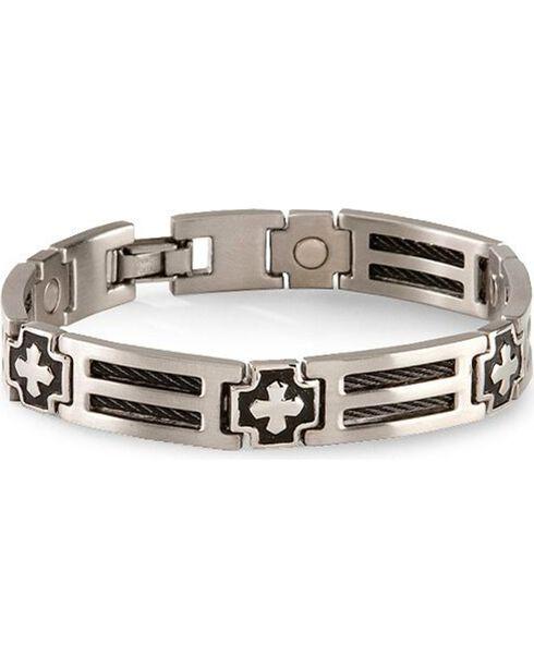 Sabona Cross Cable Magnetic Bracelet, , hi-res