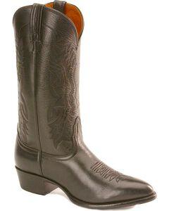 Nocona Imperial Calfskin Cowboy Boots, Black, hi-res