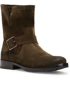Frye Women's Brown Natalie Short Engineer Boots - Round Toe , Brown, hi-res