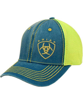 Ariat Women's Turquoise Gold Shield Baseball Cap , Black, hi-res