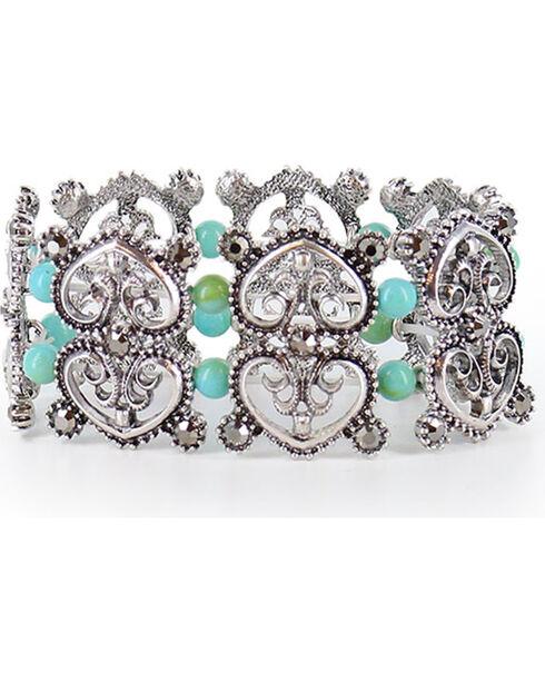 Shyanne Women's Heart Bracelet  , Silver, hi-res
