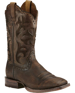 Ariat Chocolate Ombre Cowboss Performance Cowboy Boots - Square Toe, , hi-res