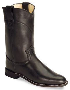 Justin Women's Original Black Roper Boots - Round Toe, , hi-res