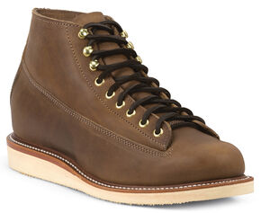Chippewa Men's 1958 Maple General Utility Boots - Round Toe, Mahogany, hi-res