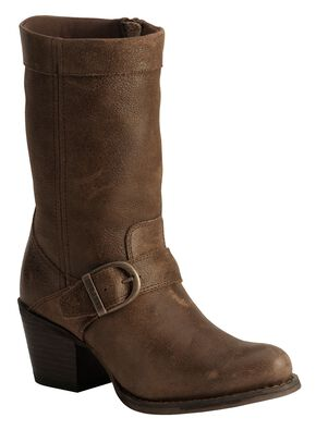 Durango Philly Harness Boots - Round Toe, Chocolate, hi-res