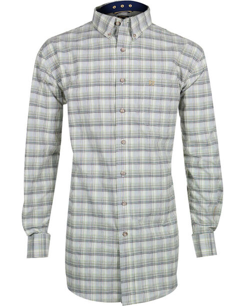 Noble Outfitters Men's Generation Long Sleeve Western Shirt, Moss Green, hi-res