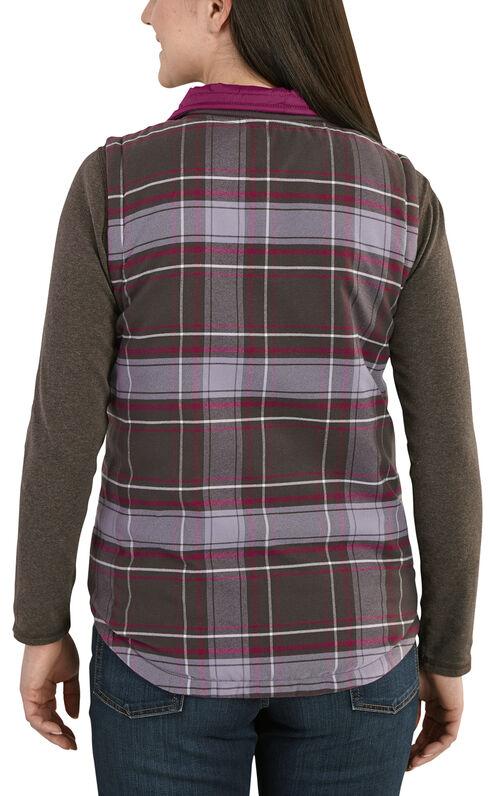 Carhartt Women's Reversible Plaid Amoret Vest, Magenta, hi-res