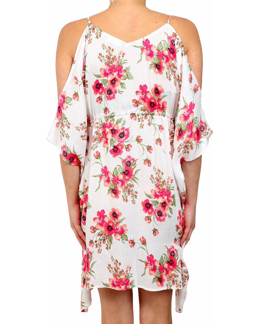 Glam Women's Fiesta Butterfly Dress , White, hi-res