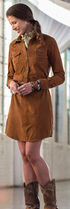 Ryan Michael Cassidy Suede Dress, Tan, hi-res