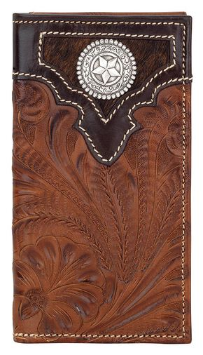 American West Concho Rodeo Checkbook, Chocolate, hi-res