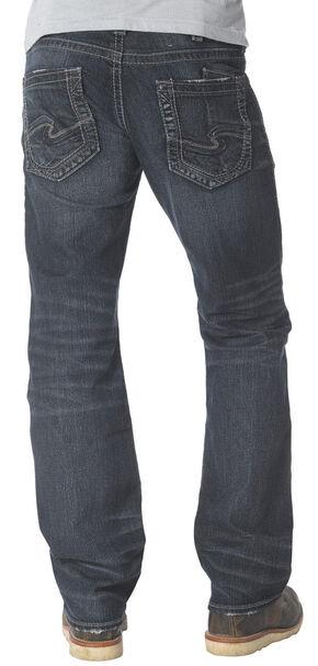 Silver Men's Zac Straight Leg Jeans, Dark Stone, hi-res