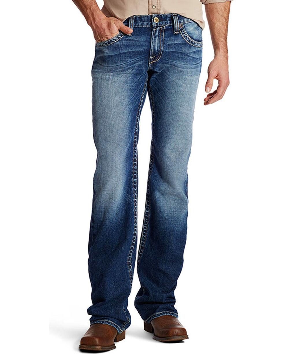 Ariat Men's M7 Sawtooth Boot Cut Jeans, Indigo, hi-res