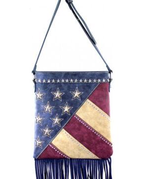 Montana West America Pride Fringe Crossbody Handbag, Navy, hi-res
