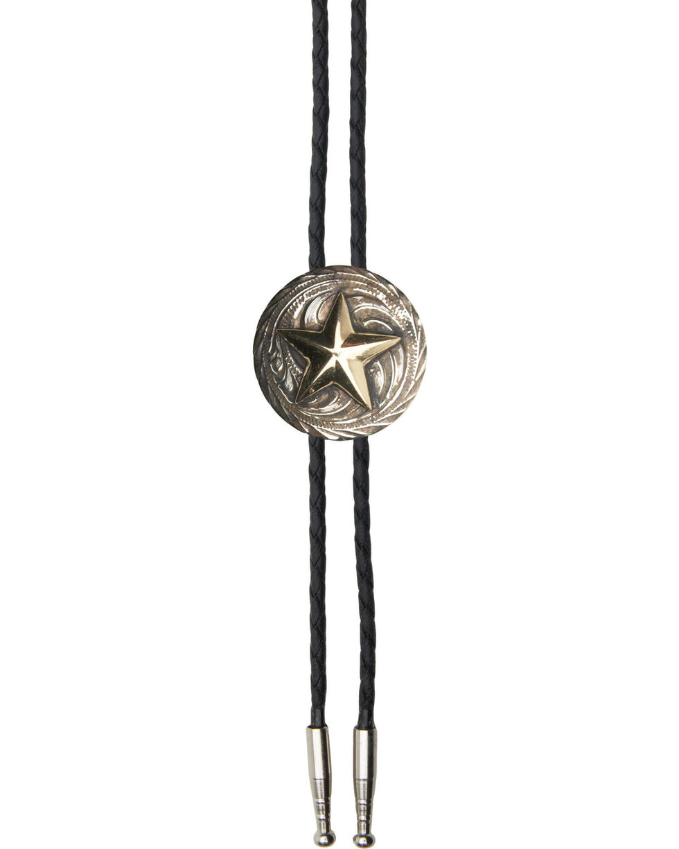 AndWest Men's Texas Star Bolo Tie, Gold, hi-res