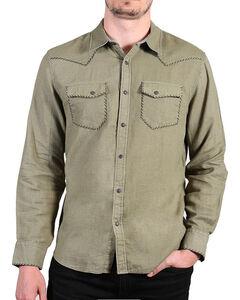Cody James Men's Olive Dartmoor Western Long Sleeve Shirt , Olive, hi-res