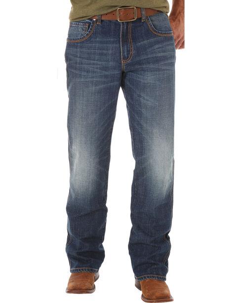 Wrangler Retro Men's Relaxed Fit Dark Wash Boot Cut Jeans - Big and Tall, Indigo, hi-res