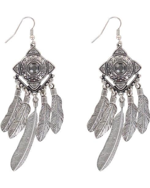 Shyanne Women's Concho Dreamcatcher Earrings, Silver, hi-res