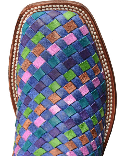 Macie Bean Unbeweavable Cowgirl Boots - Square Toe, Royal, hi-res