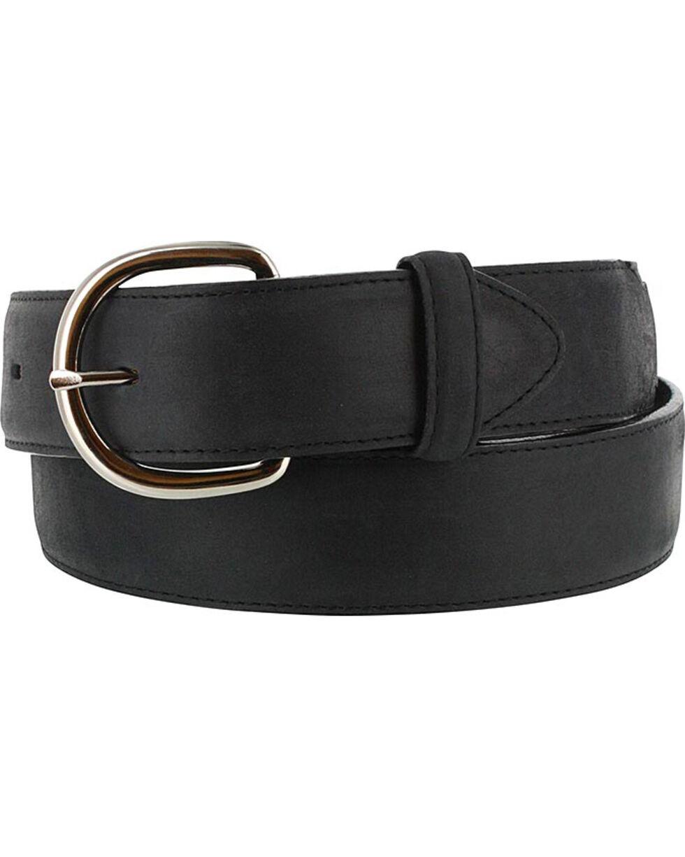 Silver Creek Men's Black Leather Overlay Belt, Black, hi-res