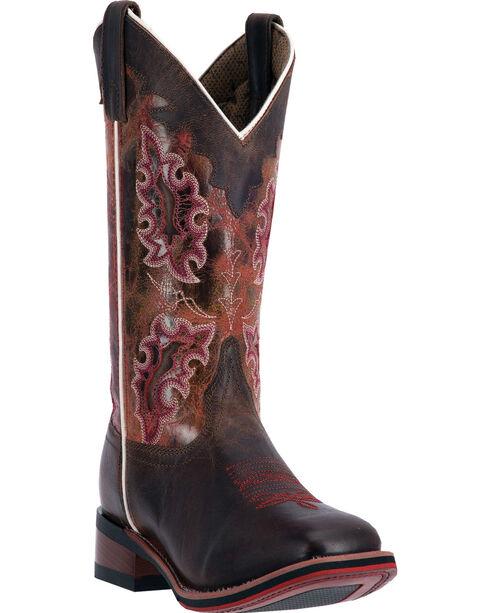Laredo Isla Cowgirl Boots - Square Toe , Brown, hi-res