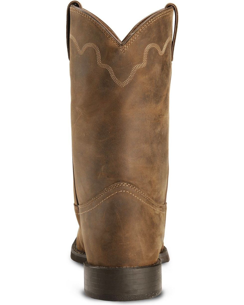 Justin Stampede Roper Cowboy Boots - Round Toe, Bay Apache, hi-res