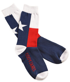 Cody James Men's Texas Flag Crew Socks , , hi-res