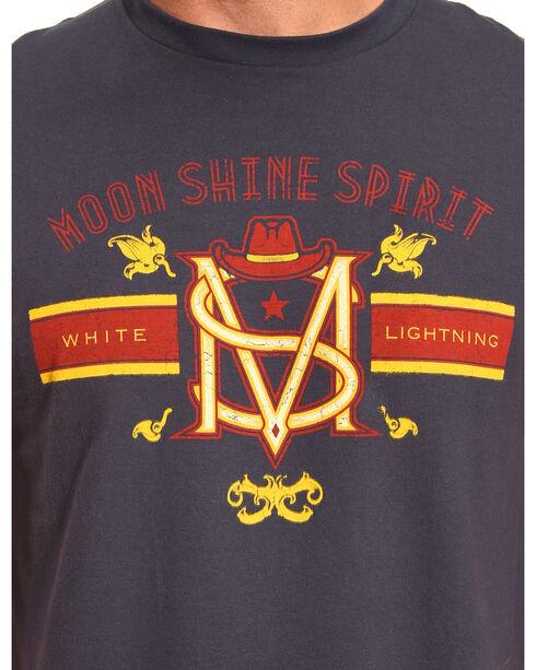 Moonshine Spirit Men's White Lightning Short Sleeve T-Shirt, Navy, hi-res