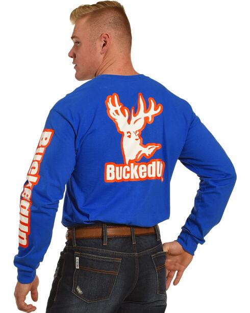 Bucked Up Men's Blue Vibrant Logo Long Sleeve Shirt , Blue, hi-res
