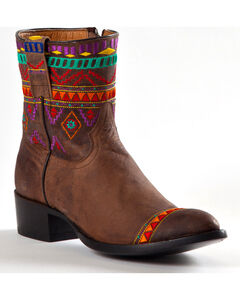 Johnny Ringo Women's Aztec Short Cowgirl Boots - Round Toe, , hi-res