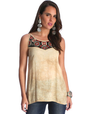 Wrangler Women's Tan Strappy Back Top , Multi, hi-res