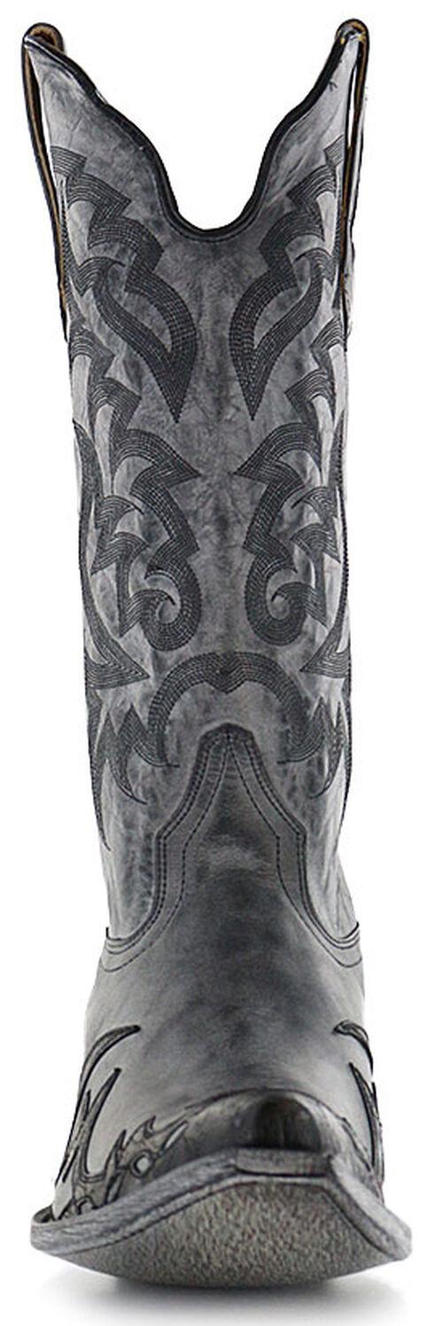 Moonshine Spirit Men's Distressed Grey Cowboy Boots - Snip Toe, Black, hi-res