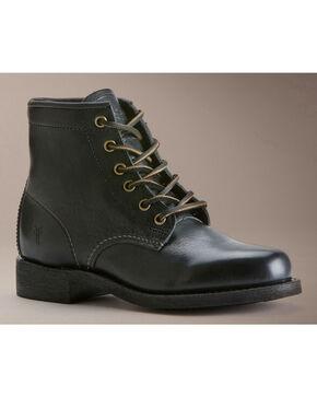 Frye Women's Arkansas Mid Lace Boots - Round Toe, Black, hi-res