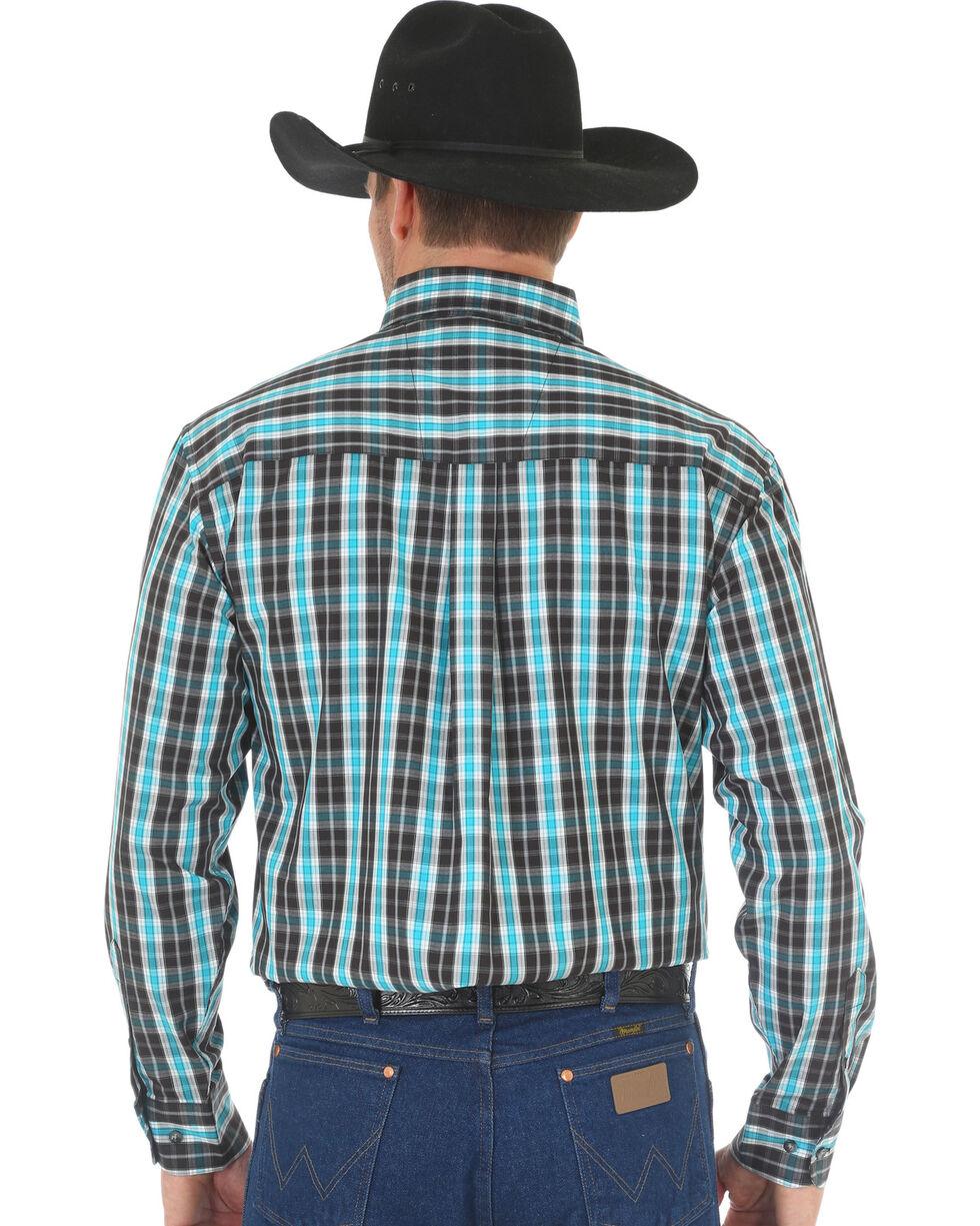 Wrangler Men's Black Classic Plaid Western Shirt , Black, hi-res